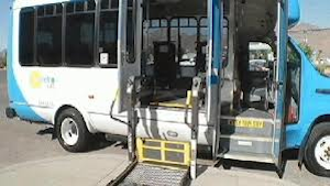 Sun Metro Lift Bus with lowered wheelchair lift