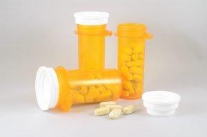 Three medicine bottles